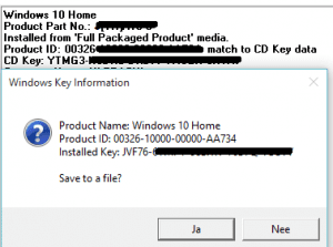 windows 10 productcode