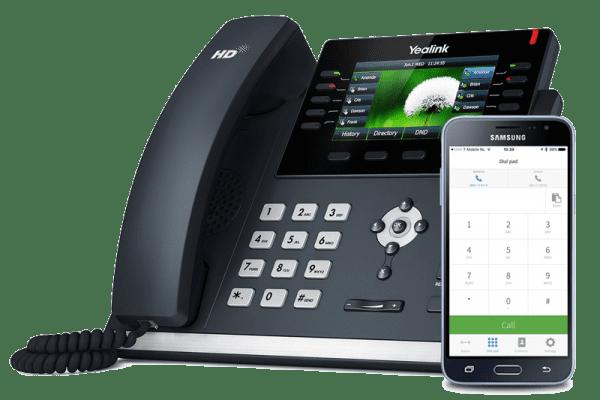 Cloud telefooncentrale Yealink toestel vast en mobiel intergratie