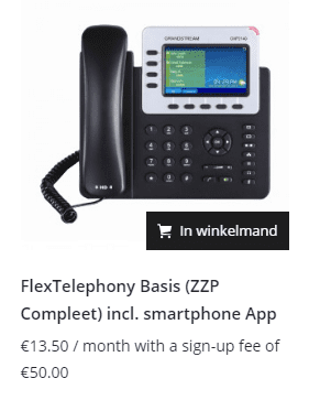 Flex telefonie bellen via internet compleet voor zzp