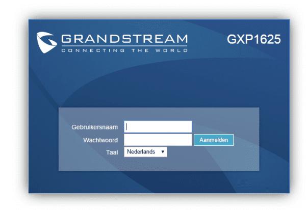 webinterface grandstream