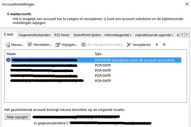 outlook email instellingen