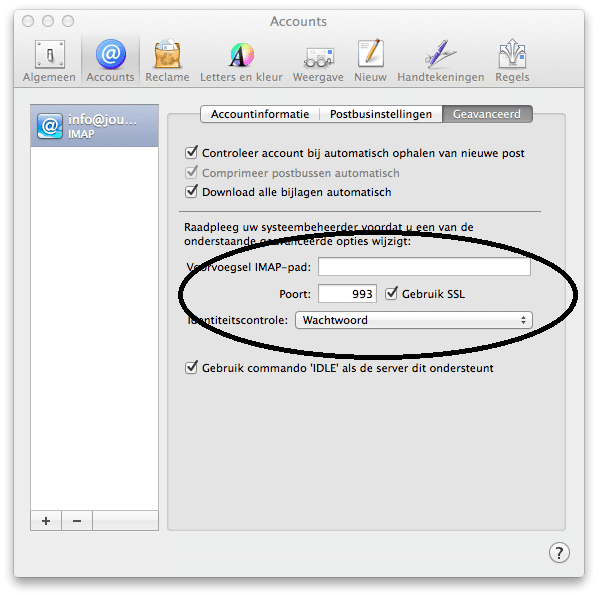 mac-imap-poort-instellingen-inkomende-mail