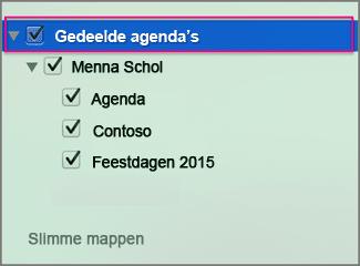 gedeelde agenda bekijken