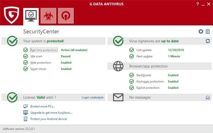 G-data antivirus installeren en activeren