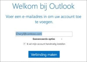 E-mail adres instellen in outlook 2016