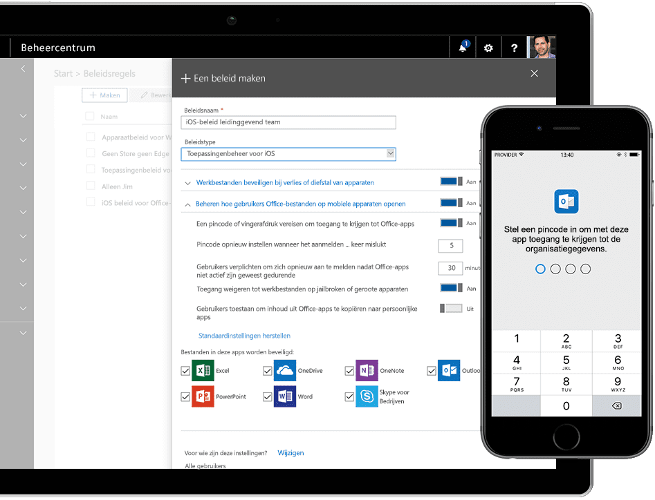 Microsoft mobile management