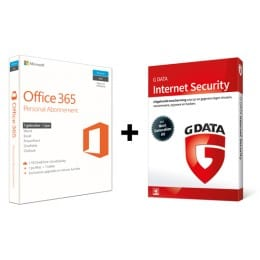 Office 365 Personal en G Data antivirus Internet Security