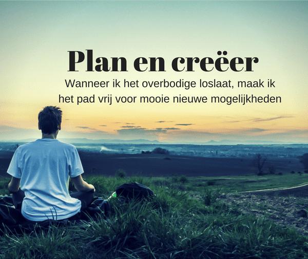 plan, werk en creëer