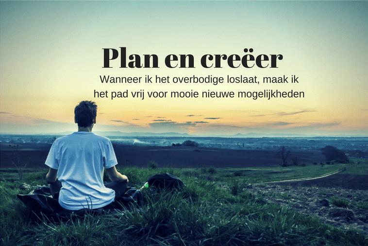 Quote van deze week: Plan en Creëer