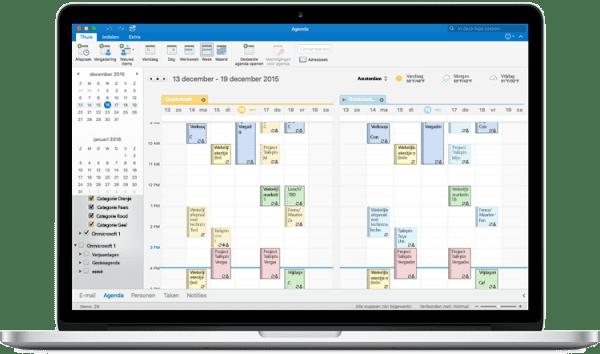 Microsoft outlook voor de mac