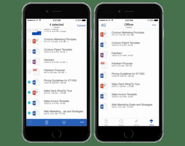 OneDrive smartphone app