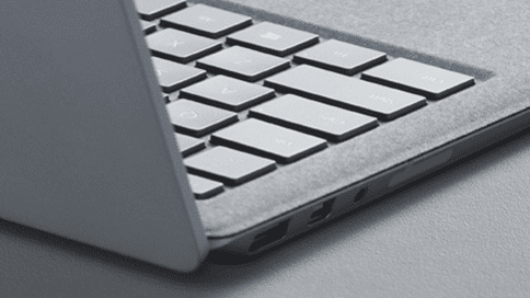 microsoft surface laptop strak design