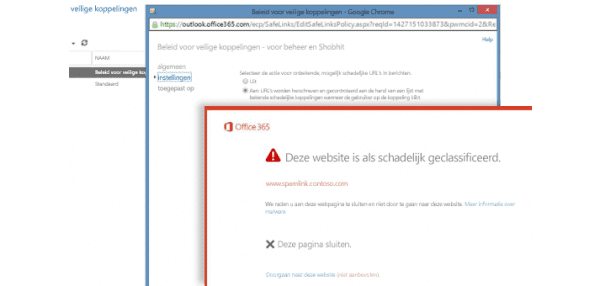 Office 365 veilige bijlage en links met advanced threat protection