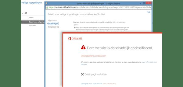 Office 365 veilige bijlage en links met advanced threat protection