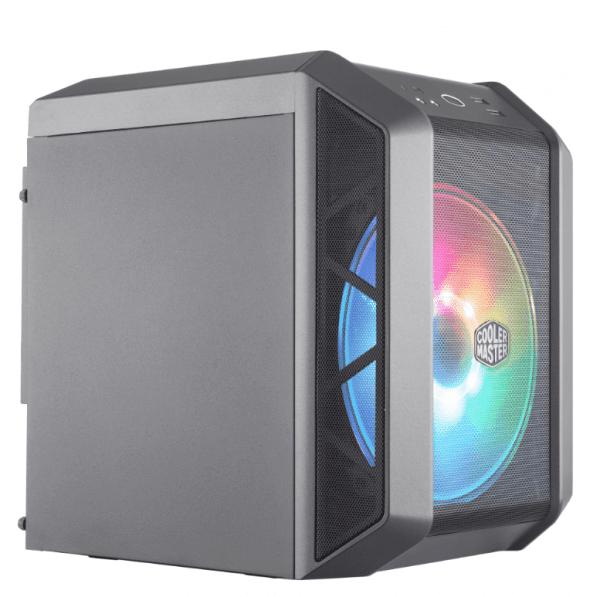 Coolermaster h100 ARGB AMD Ryzen zijkant 2