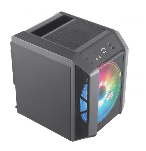 Coolermaster h100 ARGB AMD Ryzen zijkant