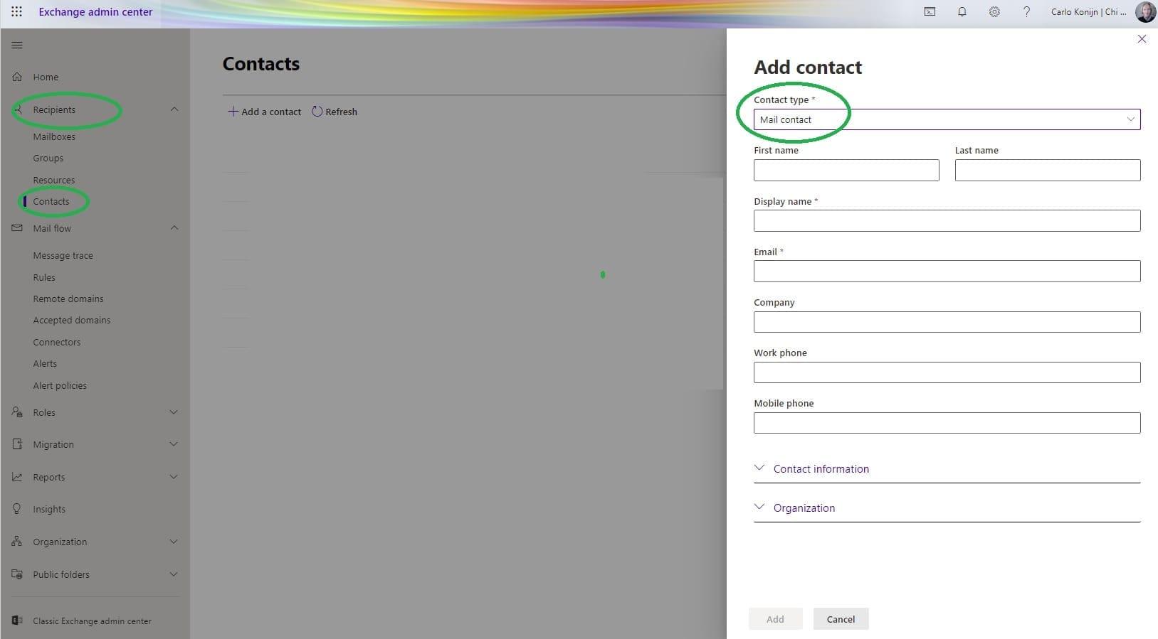 E-mail alias instellen in microsoft 365 exchange online