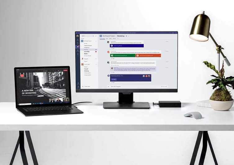 Microsoft surface laptop incl. dock