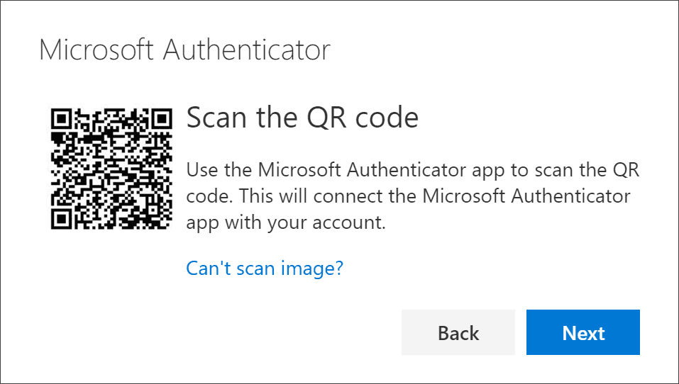 Microsoft Authenticator-app qr code