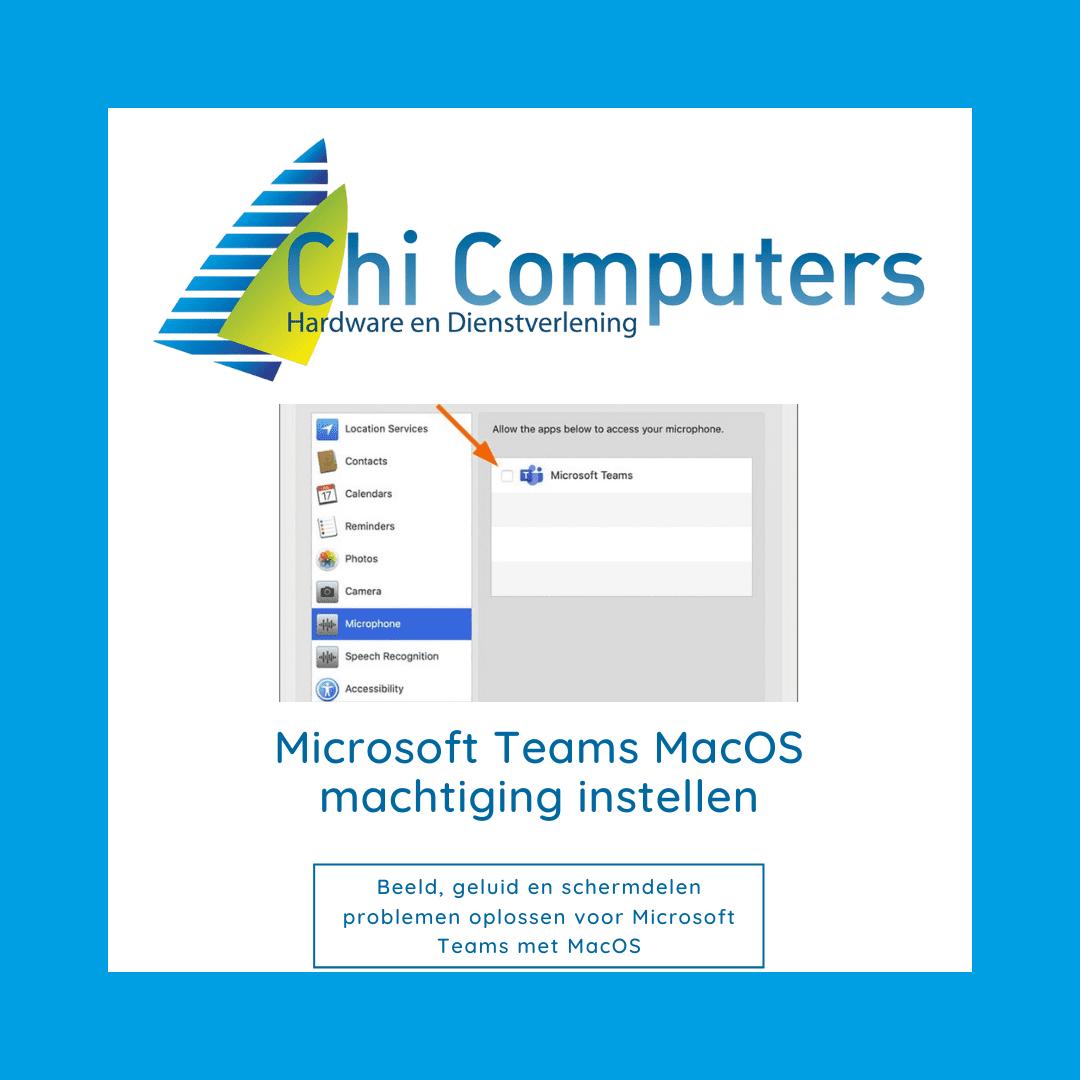 Microsoft Teams Mac os beeld en geluid probleem oplossen