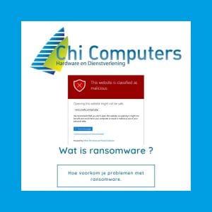 Wat is ransomware ?